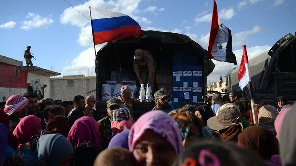 La ayuda humanitaria de Rusia para Siria (archivo) - Sputnik Mundo