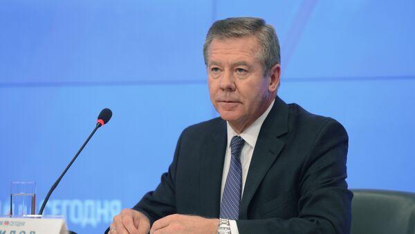 El embajador de Rusia ante la oficina de la ONU en Ginebra, Guenadi Gatílov - Sputnik Mundo