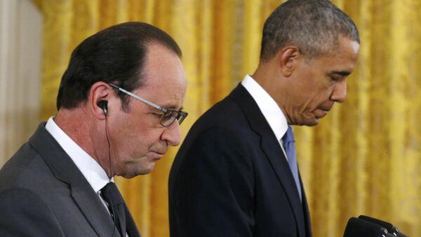 Presidente de Francia Francois Hollande y presidente de EEUU Barack Obama (Archivo) - Sputnik Mundo