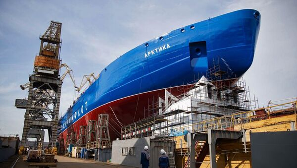 Rompehielos nuclear Árktika en San Petersburgo - Sputnik Mundo