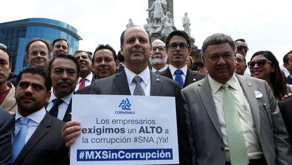 Gustavo de Hoyos (centro), presidente nacional del la Coparmex (archivo) - Sputnik Mundo