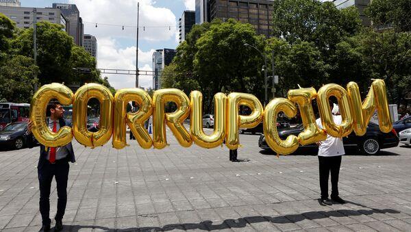 Empresarios debutan en las calles contra leyes anticorrupción, México - Sputnik Mundo
