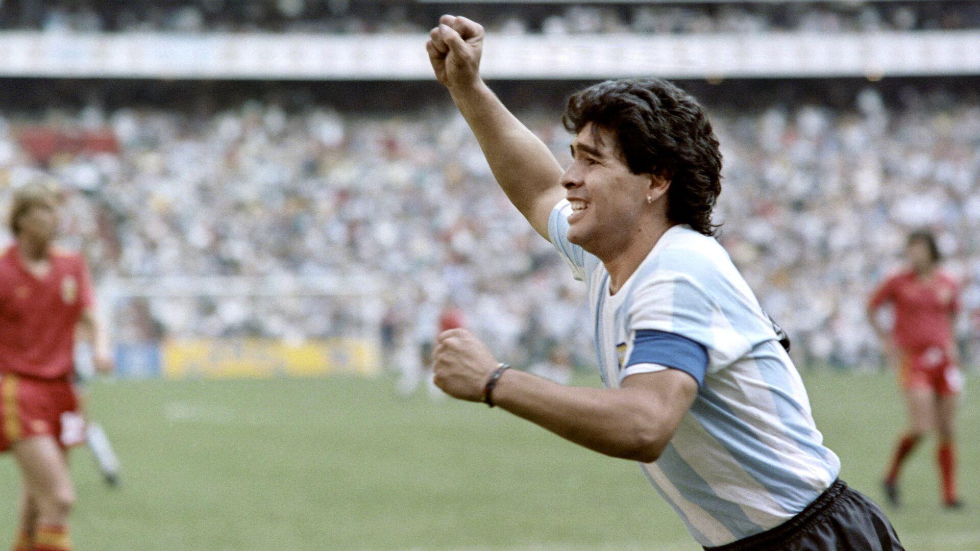 Futbolista Diego Maradona durante la Copa Mundial 1986 - Sputnik Mundo, 1920, 16.09.2021