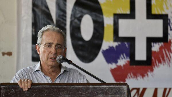 Expresidente de Colombia, Álvaro Uribe - Sputnik Mundo