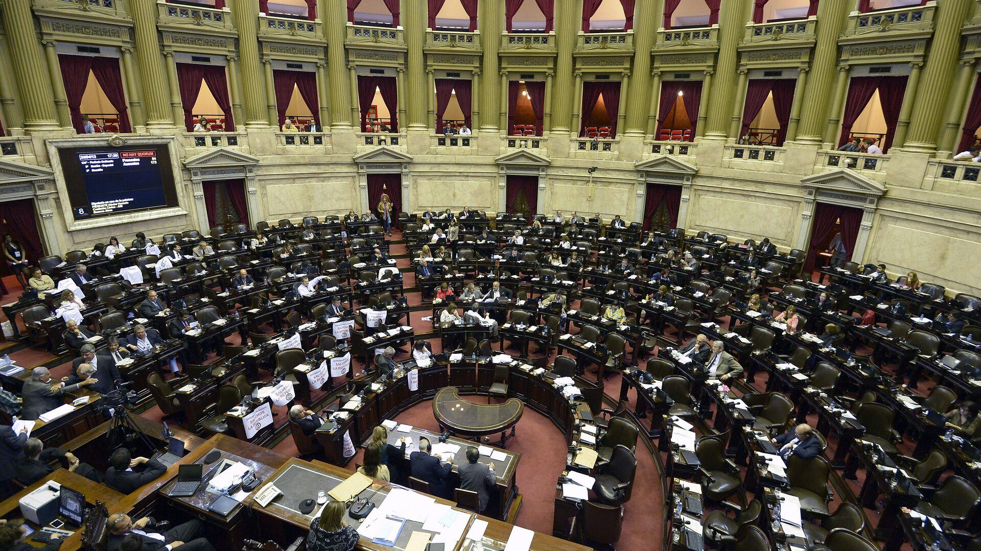 La Cámara de Diputados de Argentina - Sputnik Mundo, 1920, 05.10.2021