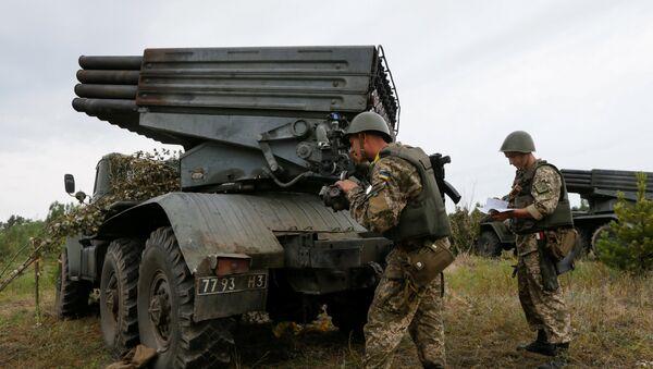 Militares ucranianos en Donbás - Sputnik Mundo