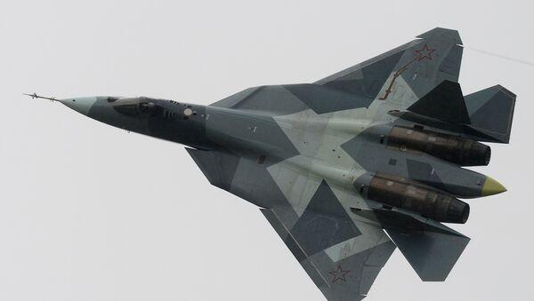 Caza ruso de la quinta generación T-50 - Sputnik Mundo