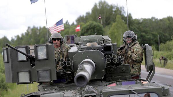 Las Fuerzas de la OTAN en Letonia (archivo) - Sputnik Mundo