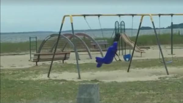 ¿Un fantasma en el parque? - Sputnik Mundo