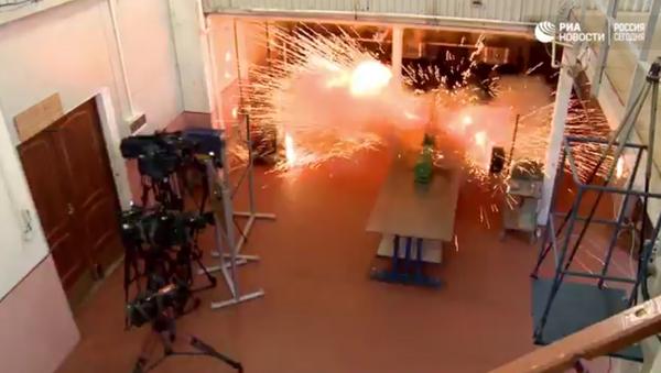 Las pruebas del cañón de riel en Rusia - Sputnik Mundo