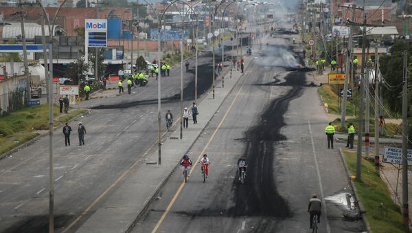 Paro camionero en Colombia - Sputnik Mundo