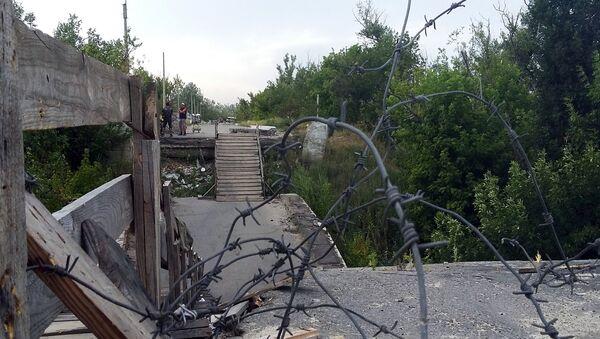 Línea de separación en Donbás - Sputnik Mundo