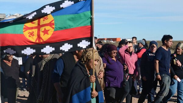 Protestas de la comunidad mapuche (archivo) - Sputnik Mundo
