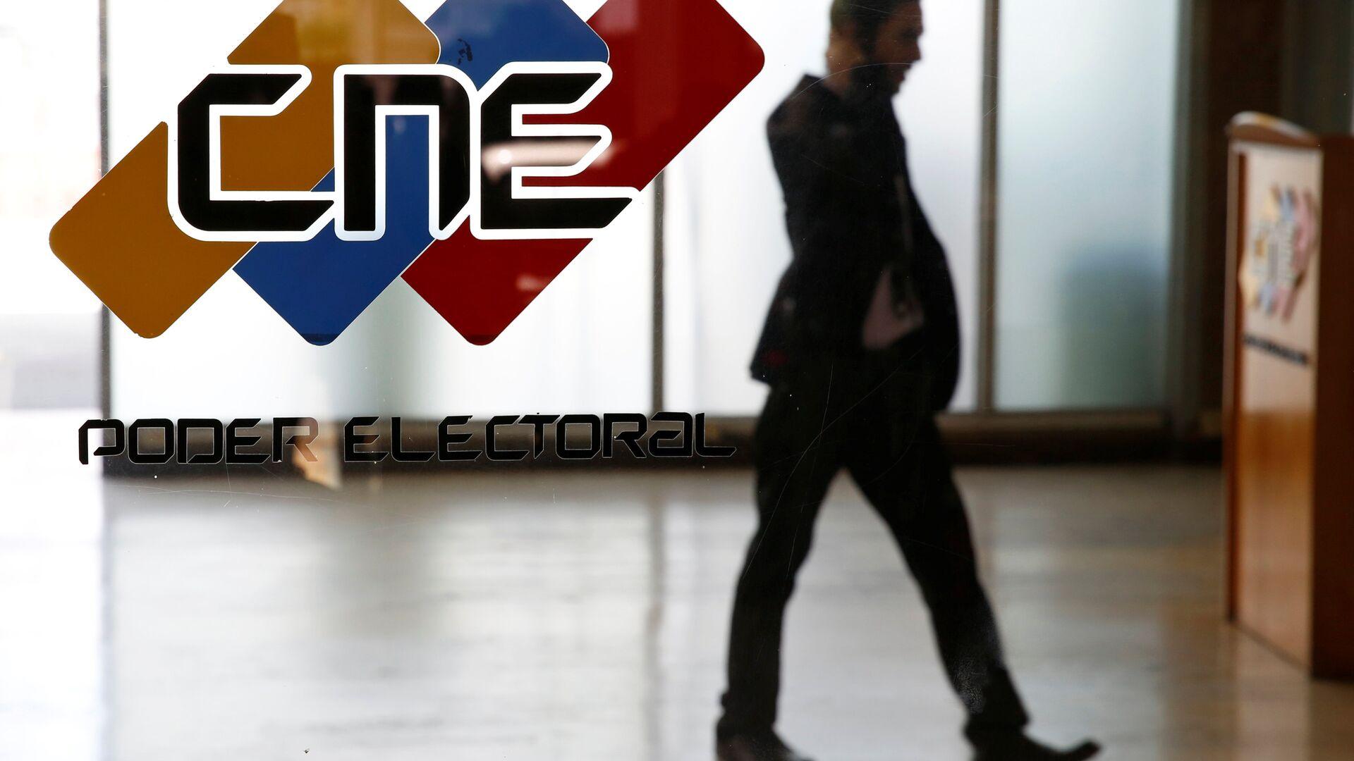 Logo de CNE de Venezuela - Sputnik Mundo, 1920, 10.02.2021