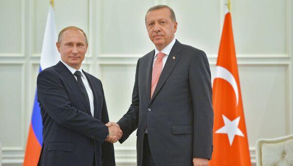 Presidente de Rusia, Vladímir Putin y presidente de Turquía, Recep Tayyip Erdogan (archivo) - Sputnik Mundo