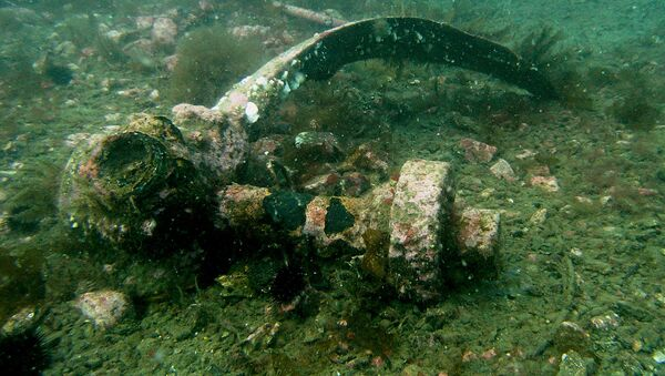 Rescatan un caza soviético de las profundidades del mar Negro - Sputnik Mundo