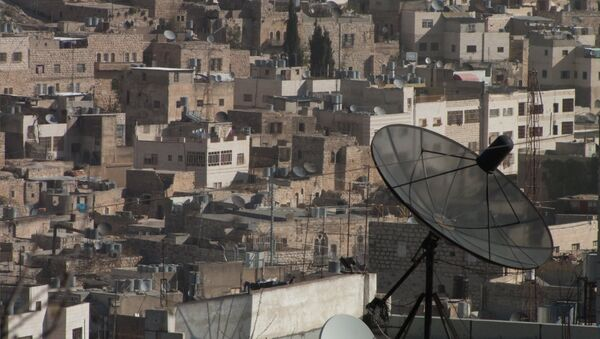 El asentamiento judío de Kiryat Arbaa junto a la ciudad de Hebrón, en la Cisjordania ocupada - Sputnik Mundo