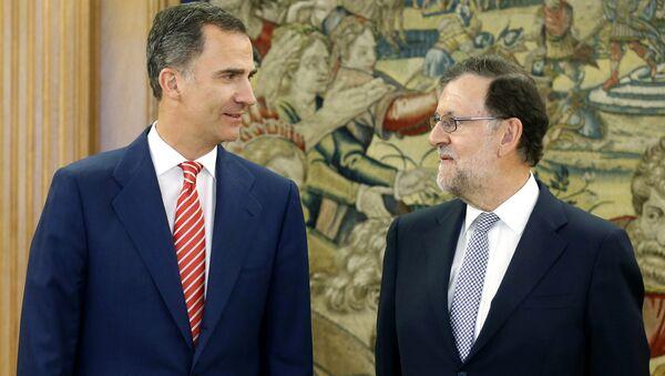 El Rey Felipe VI y el primer ministro de España, Mariano Rajoy - Sputnik Mundo