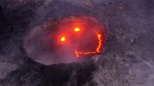 Una sonrisa infernal: la lava del volcán Kilauea toma forma de 'smiley' - Sputnik Mundo