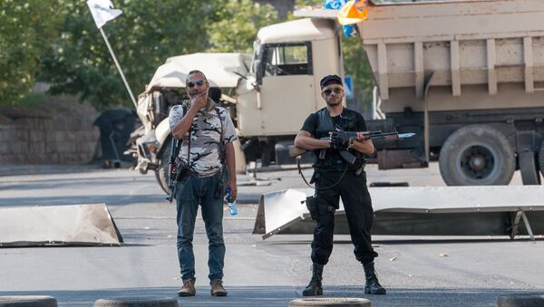 Los miembros del grupo que atacó el cuartel policial en Ereván - Sputnik Mundo