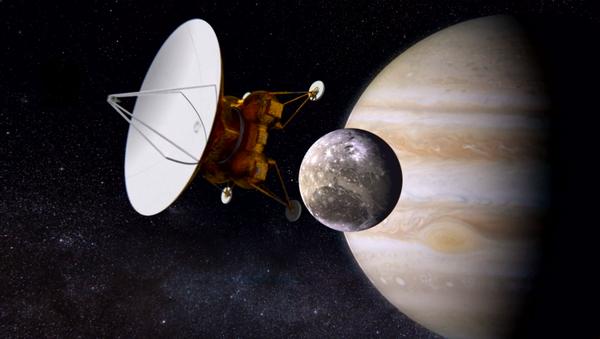 Estacion interplanetaria Laplace llega a Ganímedes, satélite de Júpiter - Sputnik Mundo