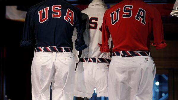 El uniforme de la delegación olímpica de EEUU diseñada por Ralph Lauren - Sputnik Mundo