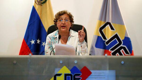 Tibisay Lucena, presidente del Consejo Nacional Electoral de Venezuela (archivo) - Sputnik Mundo