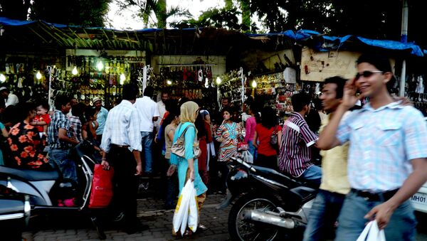 Un mercado indio - Sputnik Mundo