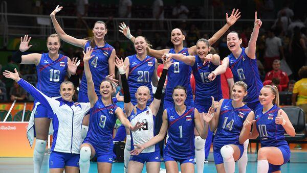 La selección rusa de voleibol femenino - Sputnik Mundo