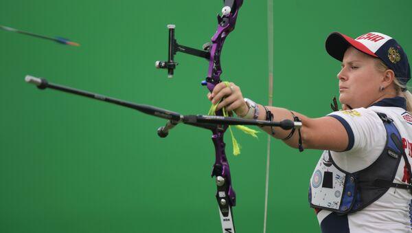 Ksenia Perova de la selección femenina rusa de tiro con arco - Sputnik Mundo