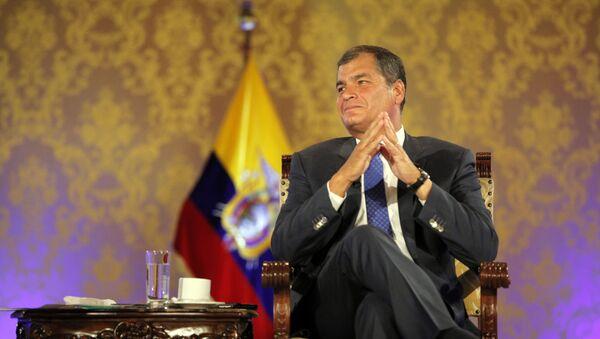 Rafael Correa, el expresidente de Ecuador - Sputnik Mundo