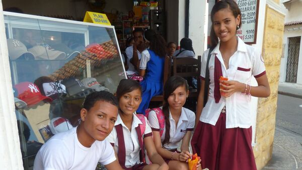 Niños colombianos - Sputnik Mundo