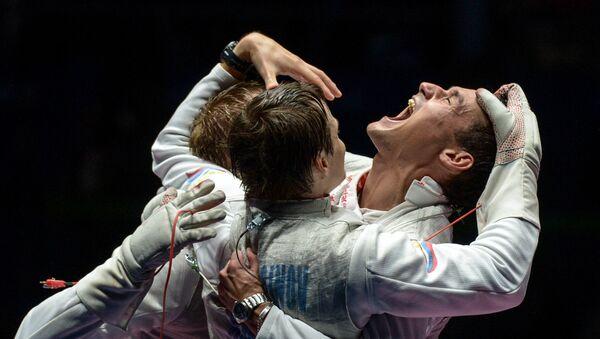 La selección masculina rusa de esgrima - Sputnik Mundo