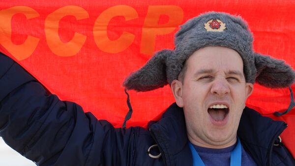 Un hincha ruso en los Juegos Olímpicos en 2014 - Sputnik Mundo