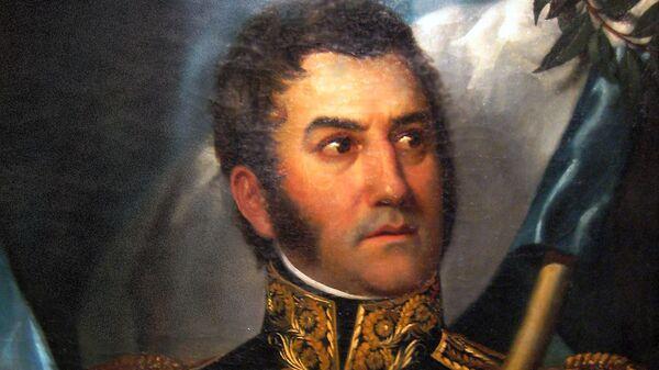 El retrato más canónico de José de San Martín (ilustración) - Sputnik Mundo