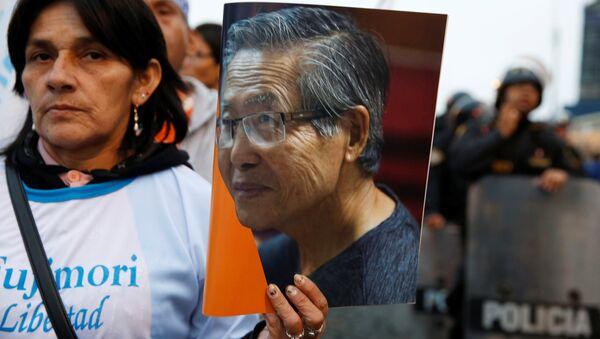 Una manifestación en apoyo del expresidente de Perú, Alberto Fujimori - Sputnik Mundo