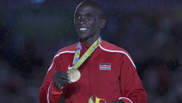 Eliud Kipchoge, el ganador de la maratón - Sputnik Mundo