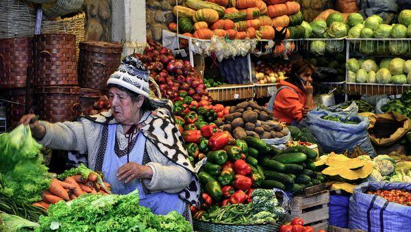 Mercado en Bolivia - Sputnik Mundo