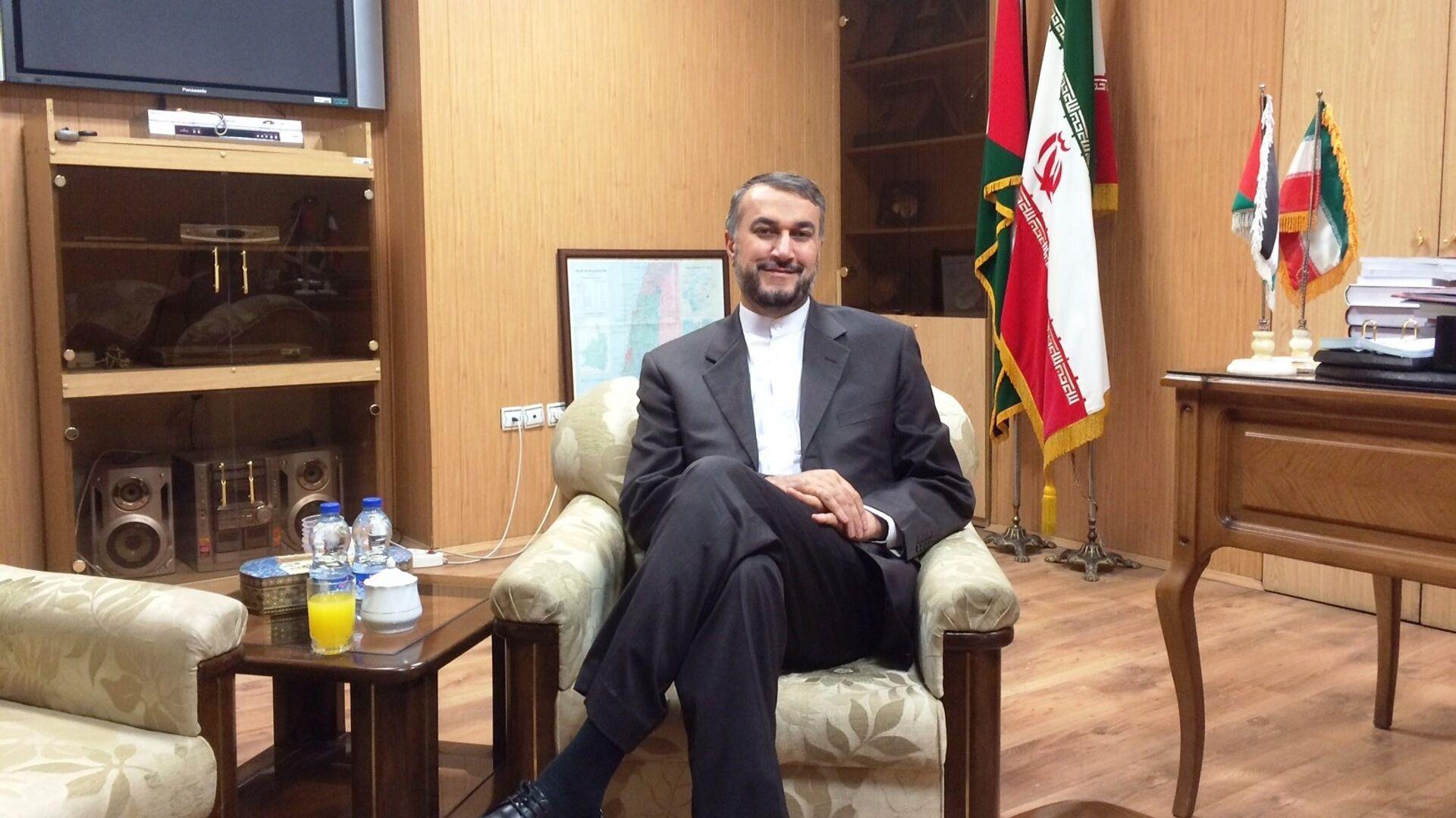 Hosein Amir Abdolahian, ministro de Relaciones Exteriores de Irán - Sputnik Mundo, 1920, 25.08.2021