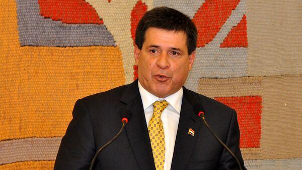 Horacio Cartes, presidente de Paraguay - Sputnik Mundo