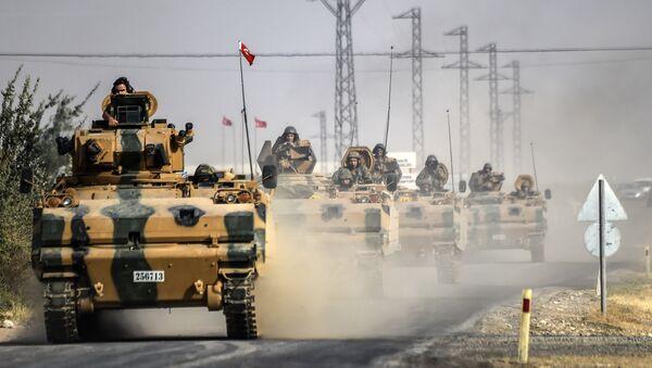 Tanques turcos en Siria (archivo) - Sputnik Mundo