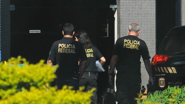 Agentes de la Policía Federal de Brasil (archivo) - Sputnik Mundo
