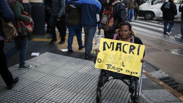 Protesta de trabajadores en Buenos Aires, Argentina - Sputnik Mundo