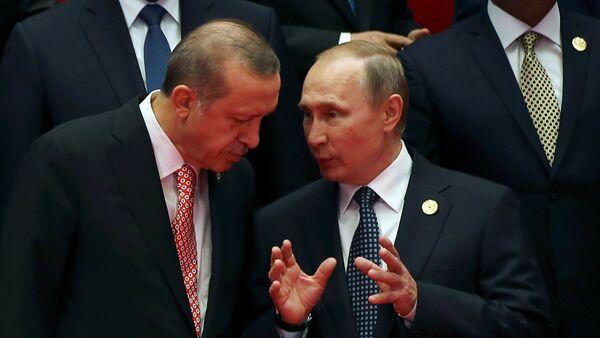Recep Tayyip Erdogan y Vladímir Putin - Sputnik Mundo