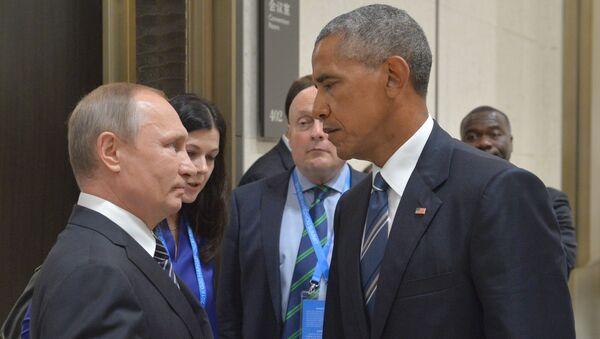 Putin and Obama at G20 Summit in Hangzhou - Sputnik Mundo