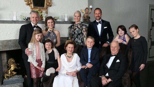 La foto de la familia real de Noruega (archivo) - Sputnik Mundo