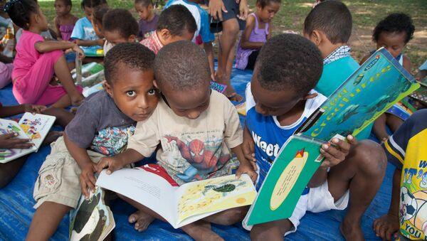 Niños de Papúa Nueva Guinea - Sputnik Mundo