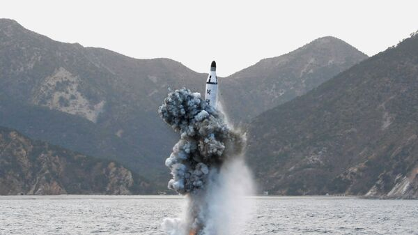 Una prueba nuclear de Corea del Norte (archivo) - Sputnik Mundo