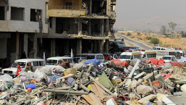 Edificios destruidos en Damasco - Sputnik Mundo