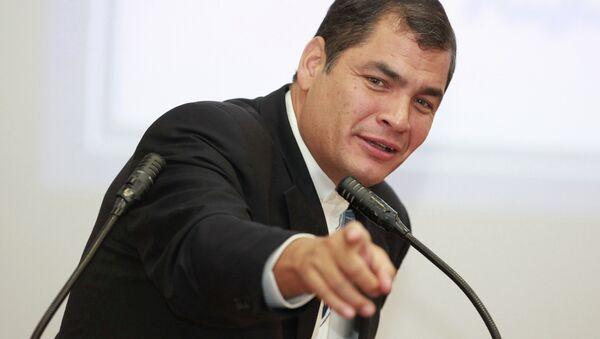 Rafael Correa, expresidente de Ecuador (archivo) - Sputnik Mundo
